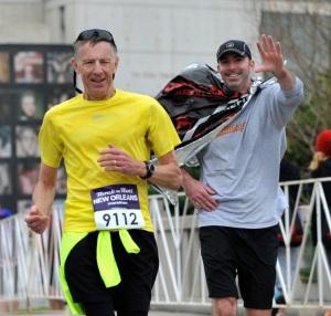 Harry final marathon with son in 2013