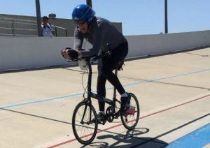 Bionic guy biking