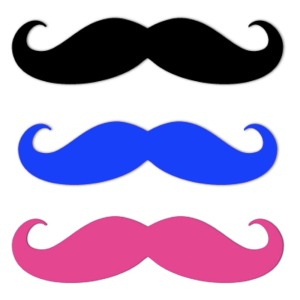 Moustaches 3x. His and Hers.Muttsnutts