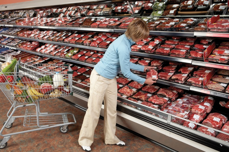 Meat case consumer